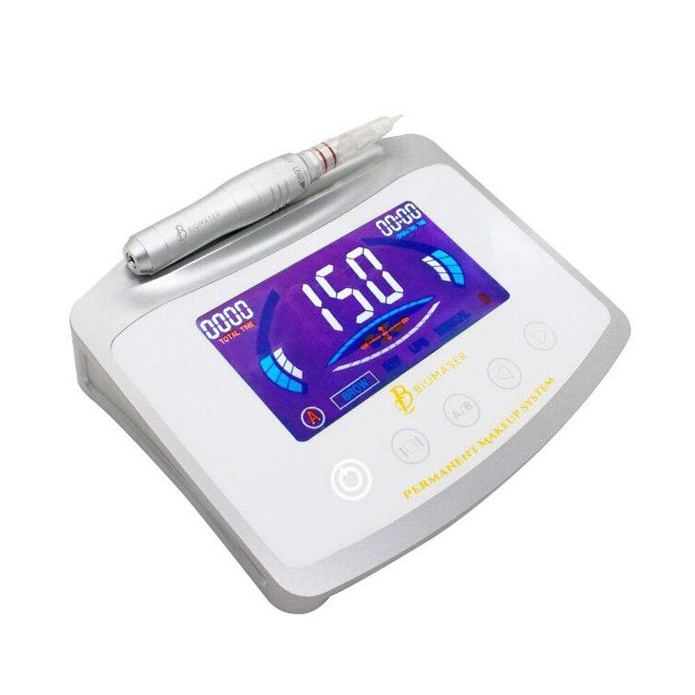 Biomaser X1 Цифровой Сенсорный Перманентный макияж машина Ручка Комплект для брови губы глаза полная Татуировка ручка Professional Machine