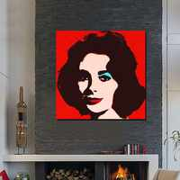 Elizabeth Taylor a mano Óleo Sobre Lienzo Pop Art Paintings Moderna Decoración Arte de La Pared Living Room Decor Imagen NK76
