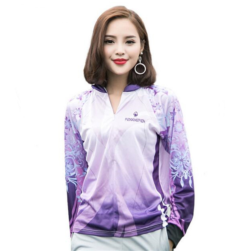 2018 New Summer Women Outdoor sport fishing clothing anti-mosquito quick-drying breathable Anti UV hooded Fishing Shirts outdoor fishing sunscreen bamboo charcoal long sleeved quick drying anti mosquito male fishing clothes page 7