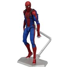 Figma 199 Figura de Ação da Marvel Super Hero Spiderman The Amazing Spider-Man Brinquedos PVC Boneca BJD 15 centímetros
