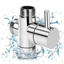 Латунный клапан 3 way сепаратор воды для душа тройниковый переходник Регулируемый Насадки для душа переключающий клапан Аксессуары для ванной комнаты
