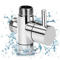 Brass Diverter Valve 3 way Water Separator Shower Tee Adapter Adjustable Shower Head Diverter Valve Bathroom Accessories