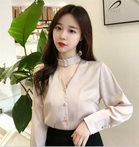 Fashion Elegant Chiffon Womens Shirt Blusas Long Sleeve Temperament Work Wear Blusa Feminina Classical Cardigan Women Blouses