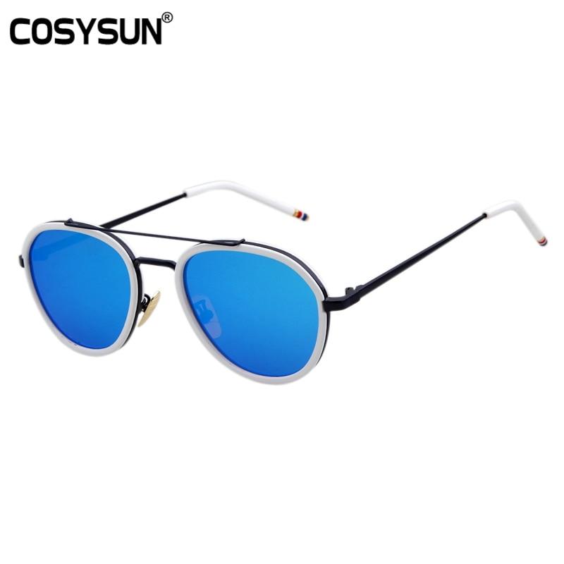 068d69bce 2016 new espelho plano óculos de sol redondos homens real óculos de sol  piloto óculos de sol das mulheres marca designer óculos de sol oculos de sol