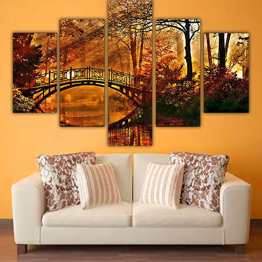 5pcs Canvas Print Painting No Framed