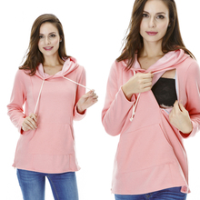 Maternity Sweater Nursing tops Thickened Warming  Long Sleeve Hoodies Fashion comfortable Breastfeeding Winter Sweater