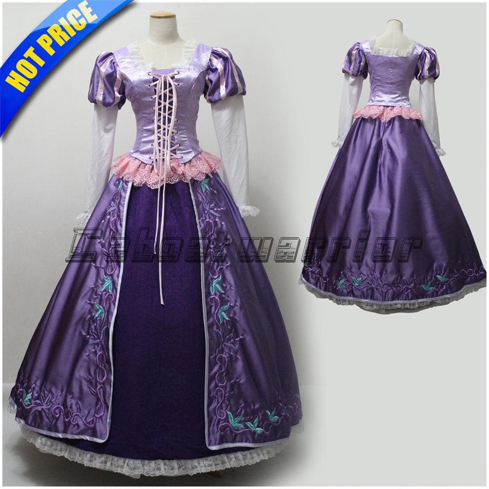 Customized Tangled Rapunzel embroidery costume Princess ...