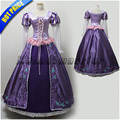 Customized Tangled Rapunzel embroidery costume  Princess Rapunzel cosplay Dress for adults women embroidery dress
