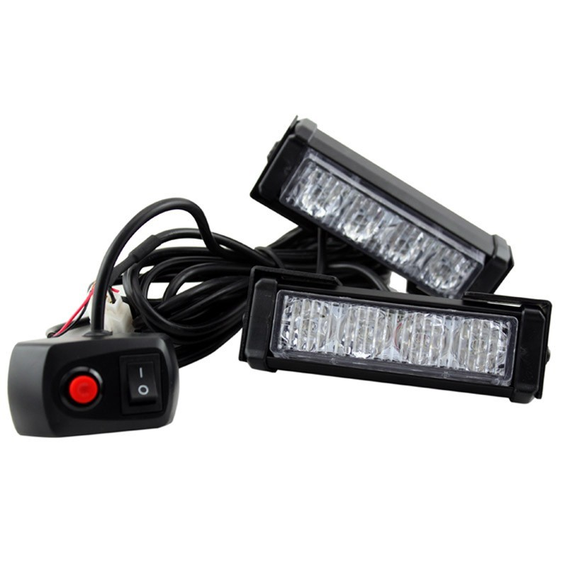 Free Shipping 2x4LED Car   Strobe Flash Light Modes Auto Warning Light 8W High Power Caution Lamp free shipping 240 led car auto roof flash strobe magnets 8 modes emergency strobe warning police light shell white color