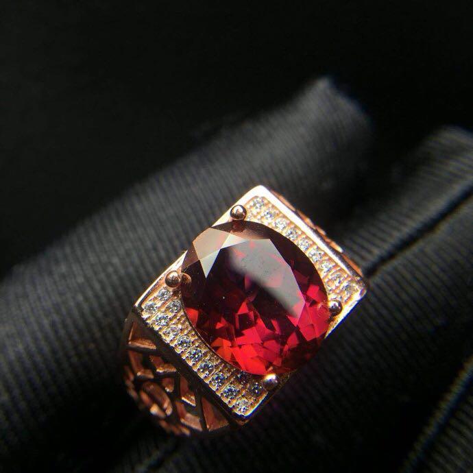 Bague homme topaze rouge réel et naturel livraison gratuite 925 argent sterling 10*12mm gemme pour hommes bijoux fins travaillés à la main