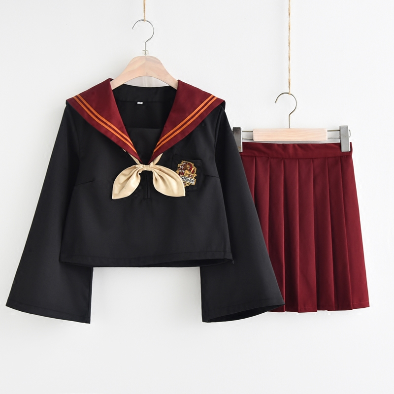 2020 Summer Sailor Suit Students School Uniform For Teens Preppy Style Cos Uniform Jk Japanese Bow Skirt Shirt 2 Kind Colors