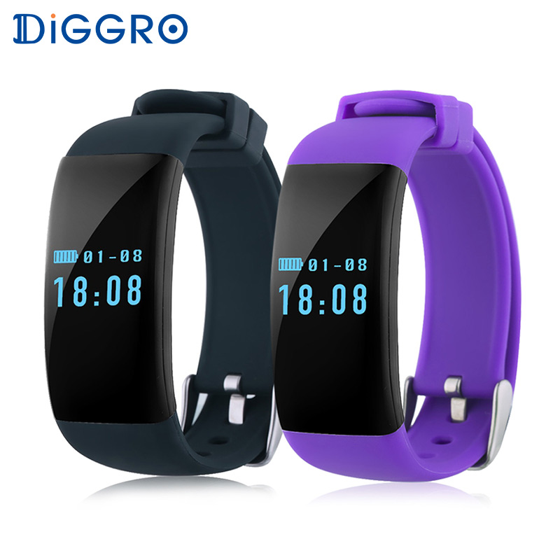 Diggro Dfit D21 Heart Rate Monitor Smartband Bluetooth