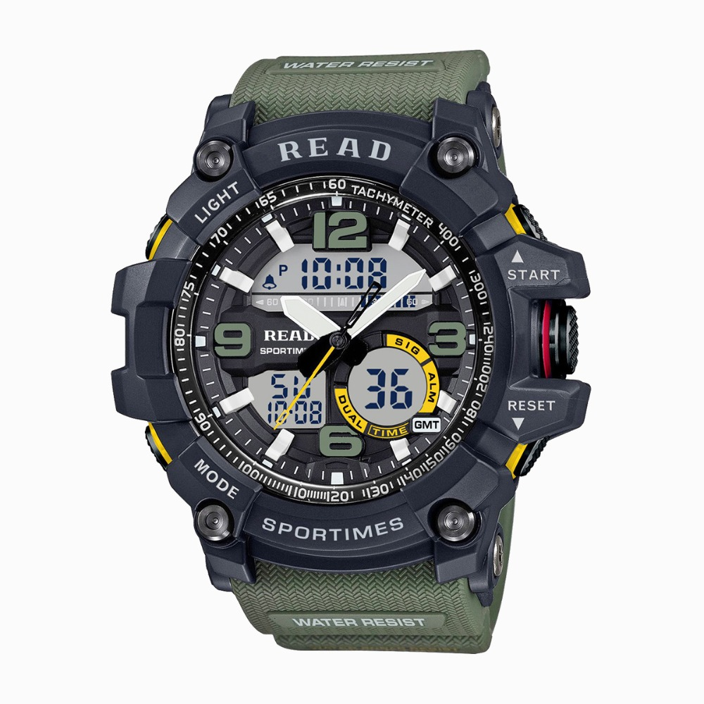 2018 READ Sport Watches for Men Waterproof Digital Watch LED Large Dail Clock Man 90001 Montre Homme Military Big Men Watches2018 READ Sport Watches for Men Waterproof Digital Watch LED Large Dail Clock Man 90001 Montre Homme Military Big Men Watches