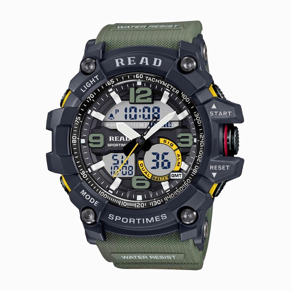 2019 lire Sport montres pour hommes étanche numérique Montre LED grand Dail horloge Homme 90001 Montre Homme militaire grands hommes montres