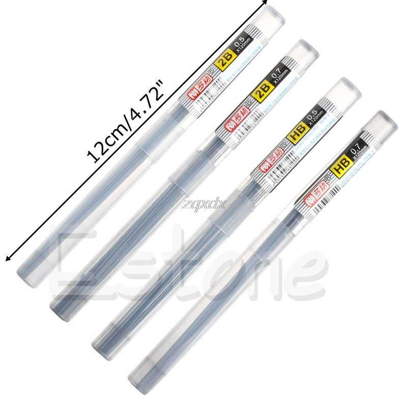 HB 2B Piombo una Ricarica Tubo 0.5 millimetri/0.7 millimetri Matita Automatica di Piombo Nuovo Stile 11CM Whosale & dropship