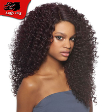 180 Density Brazilian Afro Kinky Curly Lace Front Human Hair Wigs Glueless Full lace Wig Virgin Hair Kinky Curly For Black Woman