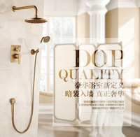Wall Mounted 8 Shower Head Single Handles Rainfall Shower Set Faucet with Handheld Brass Black In wall Shower Mixer Taps