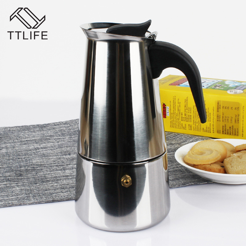 Blog:  TTLIFE Stainless Steel Moka Coffee Maker 100ml Mocha Espresso Latte Pot Filter Percolator Tools Cafetiere Tea Pot Coffeeware - Martin's & Co
