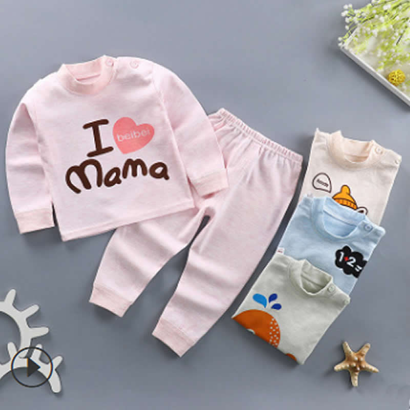 Spring Autumn Full Sleeve Cotton Boys Sleepwear Kids Whale Pyjamas Children Baby Girls Pajamas Pijama Unicornio Infantil PJS