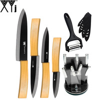 6 Pieces Cooking Tools Set XYj Bamboo Handle Ceramic Knife 3 4 5 6 Kitchen Knife