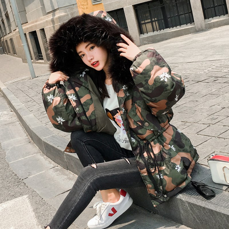 2017 Women Winter Casual Coats Jacket Warm thick Parkas Female Overcoat High Quality Cotton long Coat fur collar slim Parkas 2017 winter classic fashion fur hoodie coat jacket women thick warm long sleeve cotton coats student medium long loose overcoat
