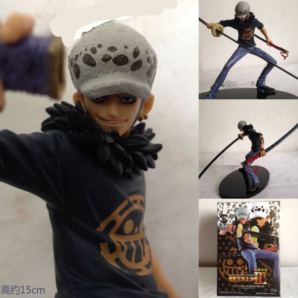 15CM <font><b>One</b></font> <font><b>Piece</b></font> Trafalgar Law <font><b>Anime</b></font> Collectible <font><b>Action</b></font> <font><b>Figures</b></font> PVC Collection toys for christmas gift Free shipping