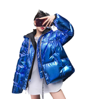 Women Winter jackets coats down jacket streetwear New oversized Hooded jacket Eiderdown thick Letter webbing clothing parkas
