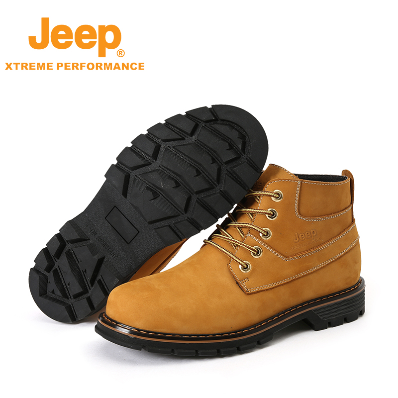Jeep Authentic Mens Leather Outdoor