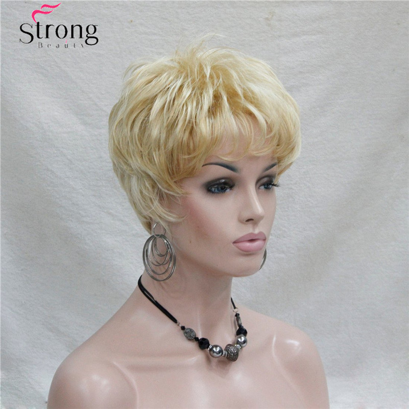 Image 3 - Short Golden Blonde Synthetic Hair wig For Women COLOUR CHOICESwigs for womenwig wigwig short -