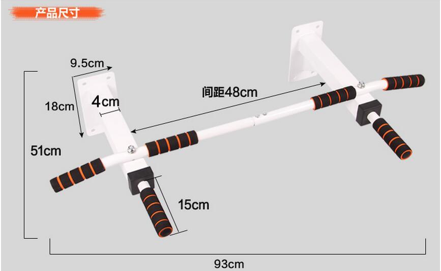 Équipement d'exercice professionnel multifonctionnel de barre de forme physique de barre horizontale de mur d'intérieur