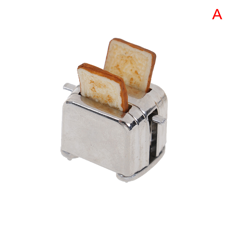 1 Set Mini Bread Machine   Dollhouse Miniature Toy Doll Food Kitchen Living Room Accessories Kids Gift Pretend Play Toys