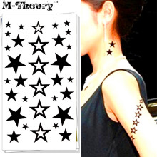 M-Theory Temporary Tattoos Body Art Small Stars Flash Tatoos Sticker 17x10cm Waterproof Tatto Bikini Swimsuit Dress Makeup
