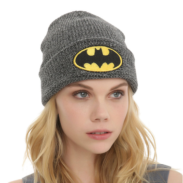 ba5d94999a1 dc comics batman logo beanies knitted hats for mens Warm Unisex womens hat  Casual Bonnet hat Skullies B08F5