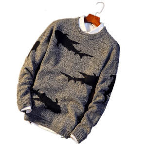 dab8fe360e0c La MaxPa 2018 style round collar pullover men s sweater
