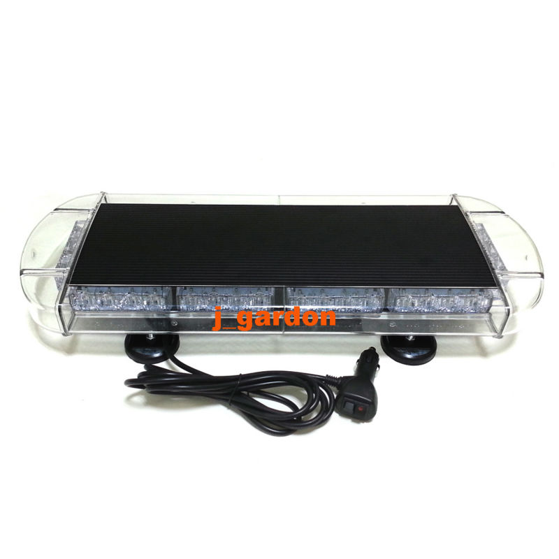 VSLED Black Aluminium Case 21.5 40 LED Emergency Recovery LightBar Wrecker Flashing LightBar Beacon Strobe Red White Light Bar