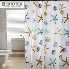 Shower Curtains Starfish Pattern PEVA Bathroom Curtain Waterproof Bathing Products Home Deco