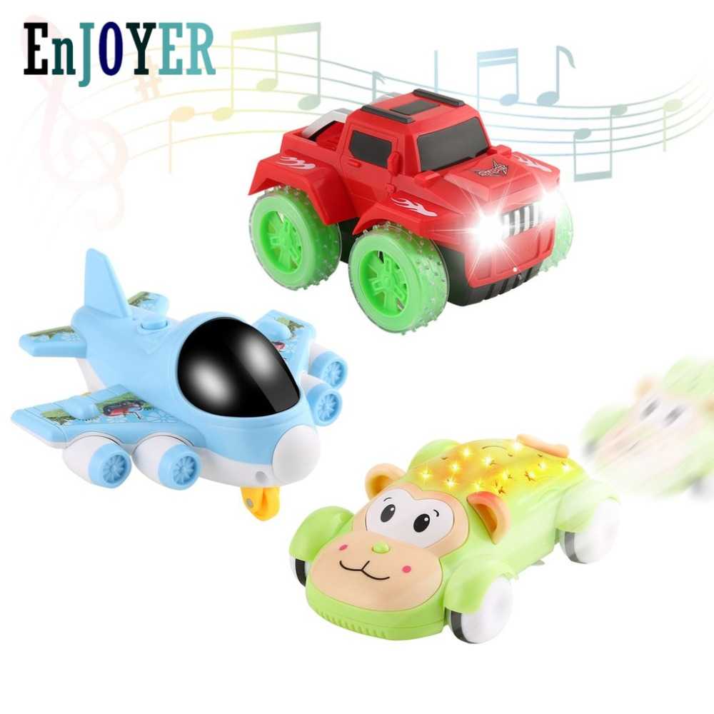 3pcs Cartoon Car Truck Airplane Family Toy Educational Kid Toys Kits With Lights & Music For Cognitive Ability Coordination