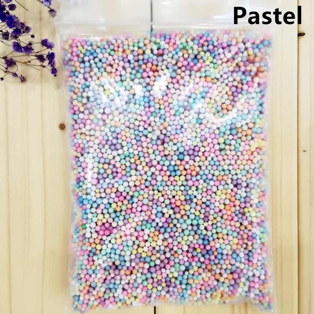 14g 2-3.5mm  4-6mm DIY Snow Mud Particles Slime Balls Not faded Color Foam Beads Filler For Fishbowl Beads Fish Tank Decoration