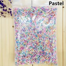 14g 2-3.5mm 4-6mm DIY Snow Mud Particles Slime Balls Not faded Color Foam Beads Filler For Fishbowl Beads Fish Tank Decoration(China)