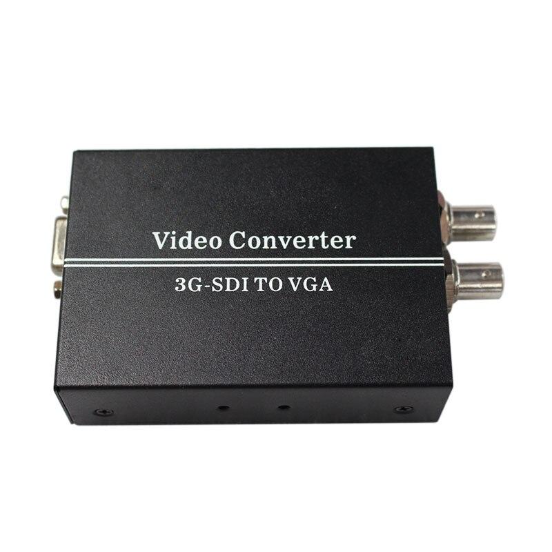 Convertisseur vidéo SDI vers VGA sdi (SD-SDI/HD-SDI/3G-SDI) BNC avec adaptateur secteur (us ou uk ou au ou eu)