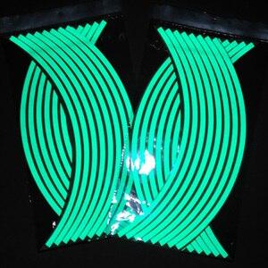 Image 5 - 16 חתיכות אוניברסלי עמיד למים אופנוע גלגל שפת מדבקות Moto אופניים מדבקות עבור הונדה ימאהה סוזוקי הארלי BMW