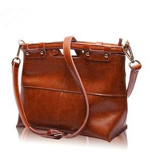 Image 3 - Brand New Fine design Cowskin handbag women casual tote bag fashion Genuine leather shoulder bags female handbag A37