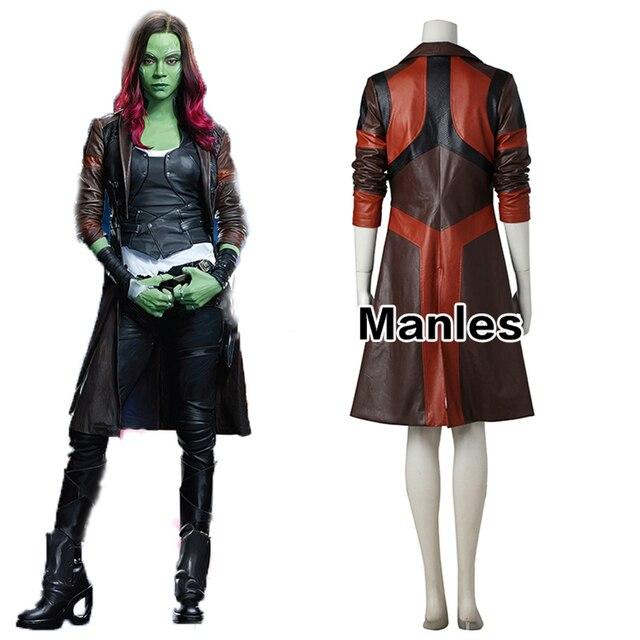 Guardianes de la Galaxia Gamora Cosplay Chaqueta 2 Mujeres