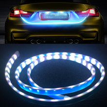 цена на 1pcs Flowing LED DRL Strip Car Tail Light Assembly Daytime Running Light Turn Signal Lamp For VW Passat B6 Scirocco Golf 6 7 4