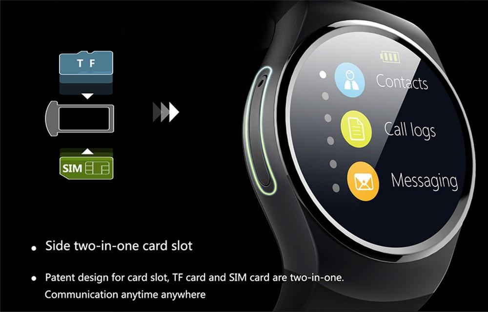 2016 New Product KW18 Smart Watch Android IOS Digital watch Bluetooth Reloj Inteligente SIM Round Heart Rate Monitor Watch Clock38