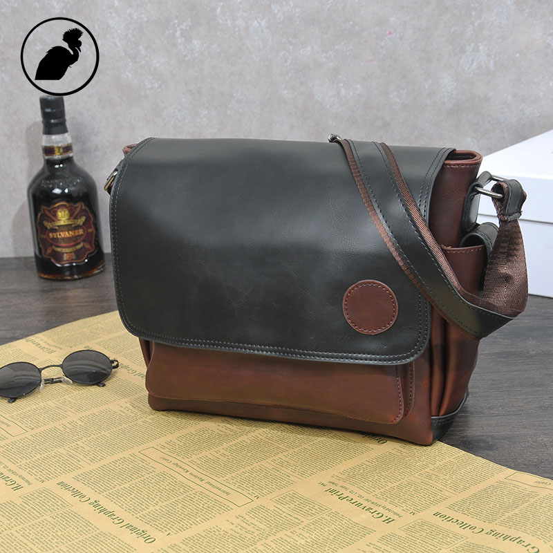 ETONWEAG Famous Brands Luxury Messenger Bag Men Leather Brown Vintage Crossbody Shoulder Bags Business Style Casual Laptop Bag etonweag famous brands 12 pcs dozen messenger bag men leather brown cover shoulder bags preppy style designer crossbody bag