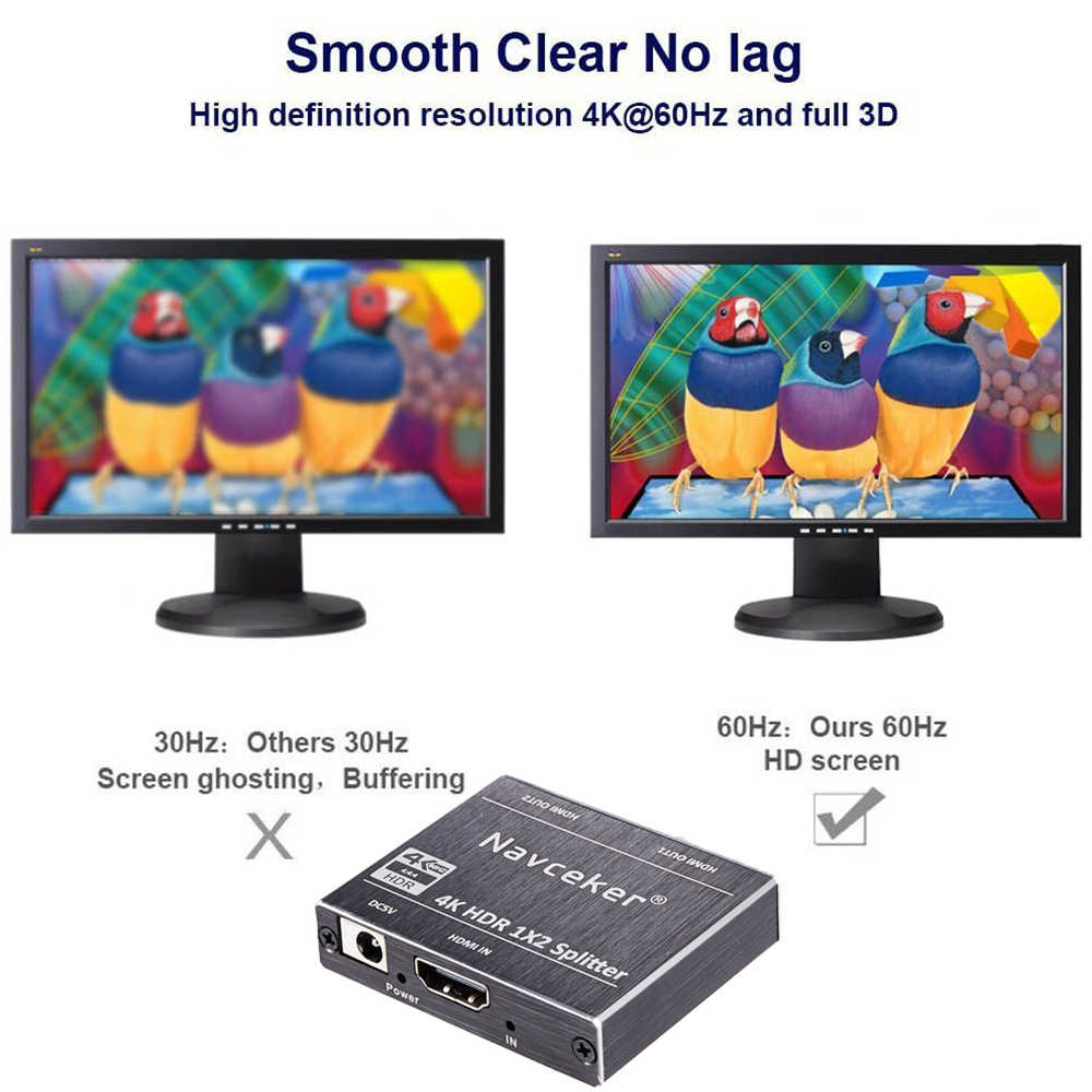 新 4 18k 60 60hz hdr hdmi 2.0 スプリッター 1 × 2 スプリッタ hdmi 2.0 4 18k サポート hdcp 2.2 uhd hdmi スプリッタ 2.0 PS4 用プロジェクター