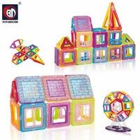 Mini Construction Assembling Magnetic Blocks Educational Construction Set Models & Building Toy ABS Magnet Designer Kids Gift