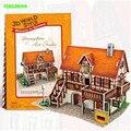 Архитектура кубических Fun diy 3D Бумаги Головоломки для детей Германия Стиль здания Модель подарок обучения Детей развивающие игрушки