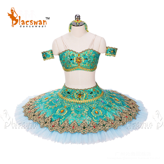 Classic Ballet Tutu BT694 La Bayadere Green Adult Professional Classical Ballet Adult Performance Tutu For Classic Ballet Kids